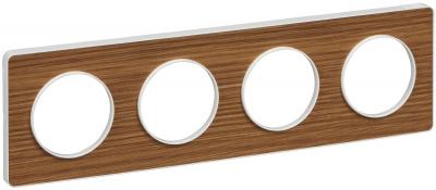Schneider Electric Odace Ольха/Белый Рамка 4 поста купить в интернет-магазине Азбука Сантехники