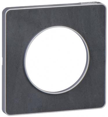 Schneider Electric Odace Сланец/Алюминий Рамка 1 пост купить в интернет-магазине Азбука Сантехники