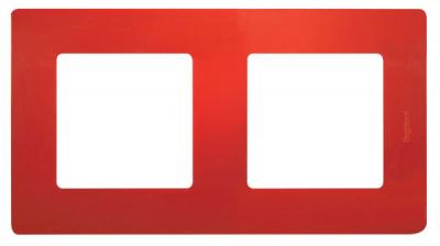 Legrand Etika Красный Рамка 2 поста купить в интернет-магазине Азбука Сантехники