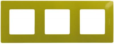 Legrand Etika Зеленый папоротник Рамка 3 поста купить в интернет-магазине Азбука Сантехники
