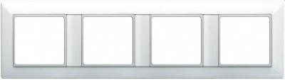 Jung EcoProfi Белый Рамка 4-постовая купить в интернет-магазине Азбука Сантехники