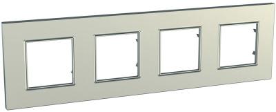 Schneider Electric Unica Quadro Metallized Титан Рамка 4-ая купить в интернет-магазине Азбука Сантехники