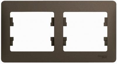 Schneider Electric Glossa Шоколад Рамка 2-постовая горизонтальная купить в интернет-магазине Азбука Сантехники