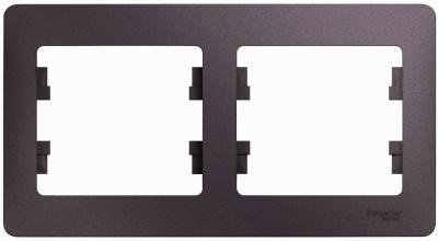 Schneider Electric Glossa Сиреневый туман Рамка 2-постовая горизонтальная купить в интернет-магазине Азбука Сантехники