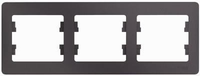 Schneider Electric Glossa Сиреневый туман Рамка 3-постовая горизонтальная купить в интернет-магазине Азбука Сантехники
