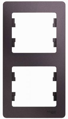 Schneider Electric Glossa Сиреневый туман Рамка 2-постовая вертикальная купить в интернет-магазине Азбука Сантехники