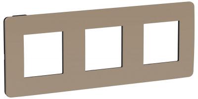 Schneider Electric Unica New Studio Color Песочный/Антрацит Рамка 2-постовая (NU280628) купить в интернет-магазине Азбука Сантехники