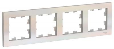 Schneider Electric AtlasDesign Жемчуг Рамка 4-постовая универсальная купить в интернет-магазине Азбука Сантехники