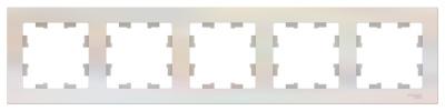 Schneider Electric AtlasDesign Жемчуг Рамка 5-постовая универсальная купить в интернет-магазине Азбука Сантехники