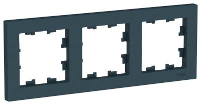 Schneider Electric AtlasDesign Изумруд Рамка 3-постовая универсальная купить в интернет-магазине Азбука Сантехники