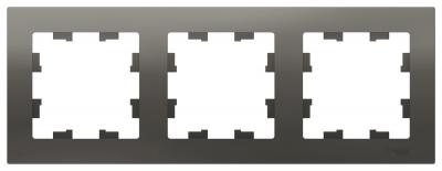Schneider Electric AtlasDesign Сталь Рамка 3-постовая универсальная купить в интернет-магазине Азбука Сантехники