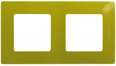 Legrand Etika Зеленый папоротник Рамка 2 поста купить в интернет-магазине Азбука Сантехники