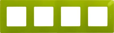 Legrand Etika Зеленый папоротник Рамка 4 поста купить в интернет-магазине Азбука Сантехники