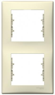 Schneider Electric Sedna Бежевый Рамка 2-постовая вертикальная купить в интернет-магазине Азбука Сантехники