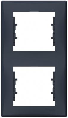 Schneider Electric Sedna Графит Рамка 2-постовая вертикальная купить в интернет-магазине Азбука Сантехники