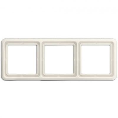 Jung CD 500 Слоновая кость Рамка 3-постовая купить в интернет-магазине Азбука Сантехники
