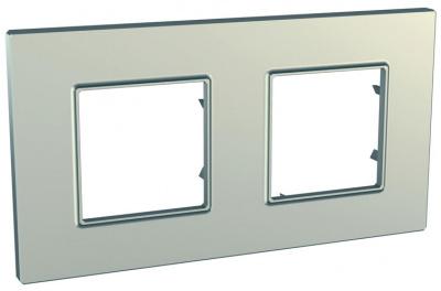 Schneider Electric Unica Quadro Metallized Титан Рамка 2-ая купить в интернет-магазине Азбука Сантехники