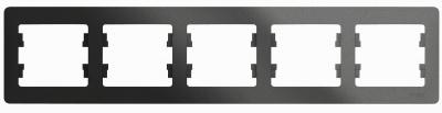 Schneider Electric Glossa Антрацит Рамка 5-постовая горизонтальная купить в интернет-магазине Азбука Сантехники