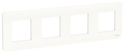 Schneider Electric Unica New Studio Mono Белый Рамка 4-постовая купить в интернет-магазине Азбука Сантехники