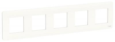 Schneider Electric Unica New Studio Mono Белый Рамка 5-постовая купить в интернет-магазине Азбука Сантехники