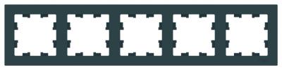 Schneider Electric AtlasDesign Изумруд Рамка 5-постовая универсальная купить в интернет-магазине Азбука Сантехники
