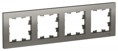 Schneider Electric AtlasDesign Сталь Рамка 4-постовая универсальная купить в интернет-магазине Азбука Сантехники