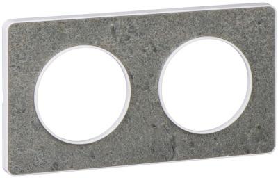 Schneider Electric Odace Морской камень/Белый Рамка 2 поста купить в интернет-магазине Азбука Сантехники