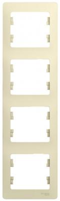 Schneider Electric Glossa Бежевый Рамка 4-постовая вертикальная купить в интернет-магазине Азбука Сантехники