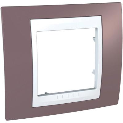 Schneider Electric Unica Хамелеон Лиловый/Белый Рамка 1-ая купить в интернет-магазине Азбука Сантехники
