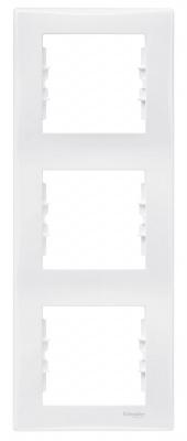 Schneider Electric Sedna Белый Рамка 3-постовая вертикальная купить в интернет-магазине Азбука Сантехники