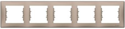 Schneider Electric Sedna Титан Рамка 5-постовая горизонтальная купить в интернет-магазине Азбука Сантехники