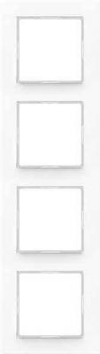 Jung A creation Белый Рамка 4-постовая купить в интернет-магазине Азбука Сантехники