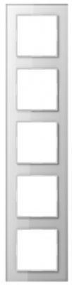 Jung A creation Стекло Белый Рамка 5-постовая купить в интернет-магазине Азбука Сантехники