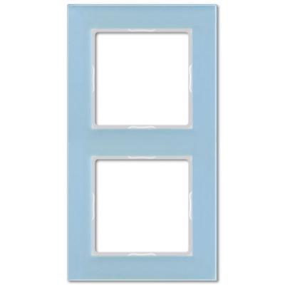 Jung A creation Стекло Серо-голубой Рамка 2-постовая купить в интернет-магазине Азбука Сантехники