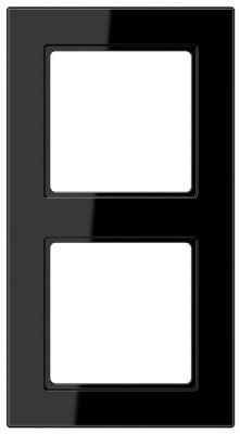 Jung A creation Черный Рамка 2-постовая купить в интернет-магазине Азбука Сантехники