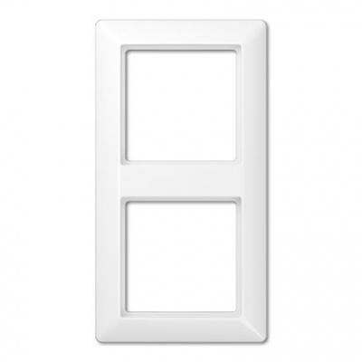 Jung AS 500 Белый Рамка 2-постовая купить в интернет-магазине Азбука Сантехники