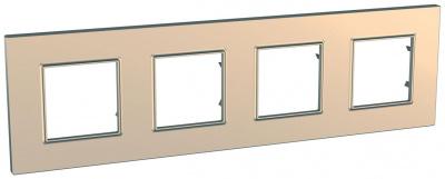 Schneider Electric Unica Quadro Metallized Медь Рамка 4-ая купить в интернет-магазине Азбука Сантехники