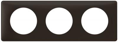 Legrand Celiane Черная перкаль Рамка 3 поста / 2+2+2 мод купить в интернет-магазине Азбука Сантехники
