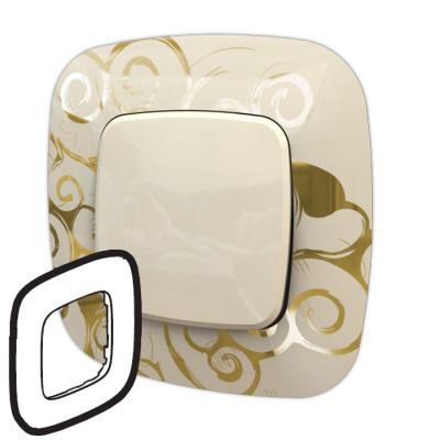 Legrand Valena Allure Нарцисс золото Рамка 1 пост купить в интернет-магазине Азбука Сантехники