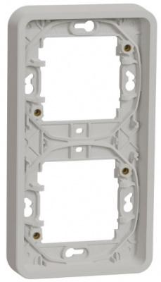 Schneider Electric Mureva Styl Белый Рамка 2-пост вертикальная IP55 купить в интернет-магазине Азбука Сантехники