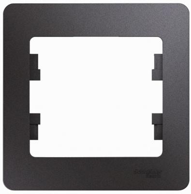 Schneider Electric Glossa Графит Рамка 1-постовая купить в интернет-магазине Азбука Сантехники