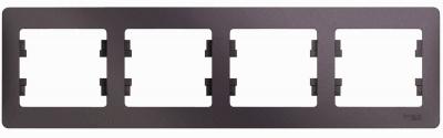 Schneider Electric Glossa Сиреневый туман Рамка 4-постовая горизонтальная купить в интернет-магазине Азбука Сантехники