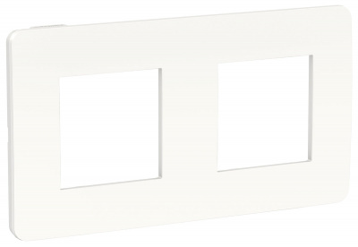 Schneider Electric Unica New Studio Color Белый/Белый Рамка 2-постовая купить в интернет-магазине Азбука Сантехники