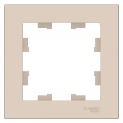 Schneider Electric AtlasDesign Бежевый Рамка 1-постовая купить в интернет-магазине Азбука Сантехники