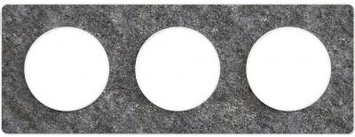 Schneider Electric Odace Черный фосфор/Белый Рамка 3 поста купить в интернет-магазине Азбука Сантехники