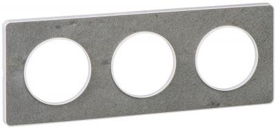 Schneider Electric Odace Морской камень/Белый Рамка 3 поста купить в интернет-магазине Азбука Сантехники