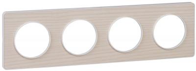 Schneider Electric Odace Бук/Белый Рамка 4 поста купить в интернет-магазине Азбука Сантехники