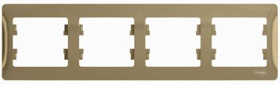 Schneider Electric Glossa Титан Рамка 4-постовая горизонтальная купить в интернет-магазине Азбука Сантехники