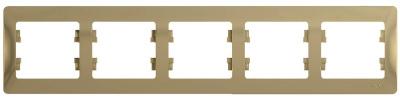 Schneider Electric Glossa Титан Рамка 5-постовая горизонтальная купить в интернет-магазине Азбука Сантехники