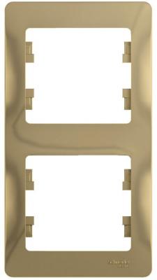 Schneider Electric Glossa Титан Рамка 2-постовая вертикальная купить в интернет-магазине Азбука Сантехники